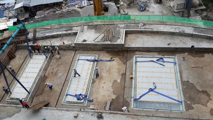 马来西亚吉隆坡凌云阁空中泳池480万施工中二
