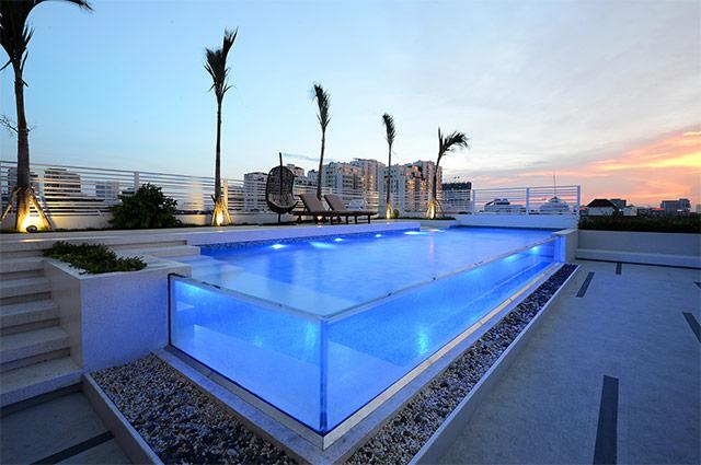 越南胡志明市红珊瑚样品屋(一),瑞地格乐亚克力游泳池