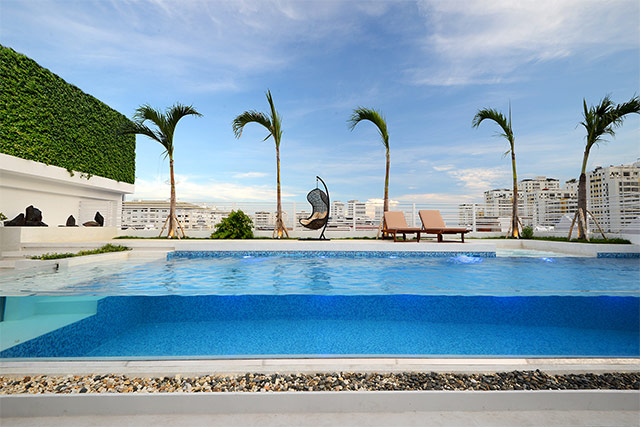 越南胡志明市红珊瑚样品屋(二),瑞地格乐亚克力游泳池